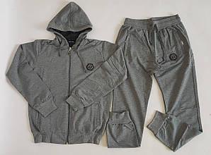 Спортивный костюм для мальчика серого цвета