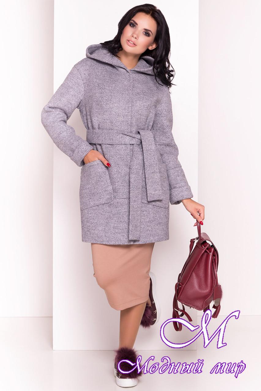 Женское демисезонное пальто серого цвета (р. S, M, L) арт. Анита 3299 - 16833