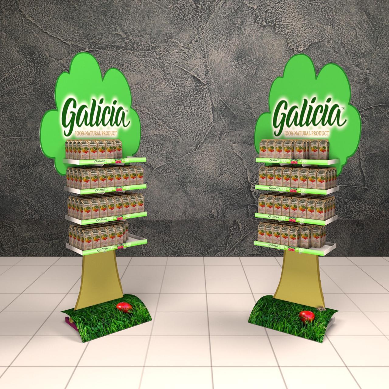 Изготовление торговых стоек Galicia