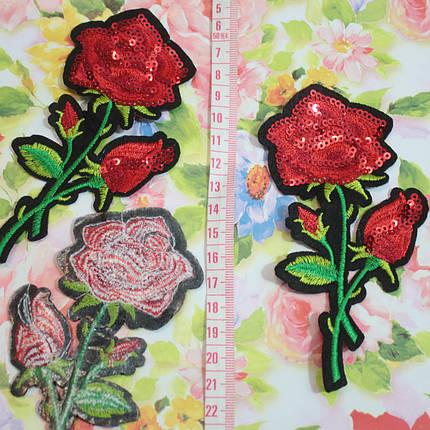 Термоаппликация пайетки роза, фото 2