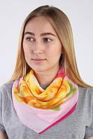 Ультра модный платок в цветочный принт