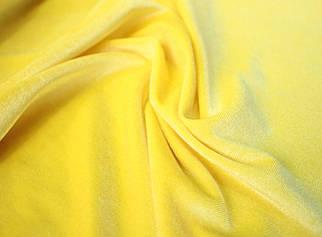 Тканина оксамит стрейч жовтий