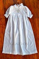 Нарядное платье для крещения девочки с вышивкой и кружевом