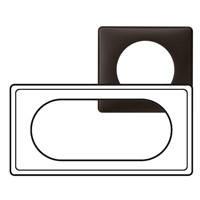 Рамка - Программа Celiane - 4/5 модулей - Чёрная перкаль
