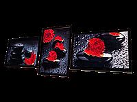 Триптих для вышивки бисером Алая роза, фото 1