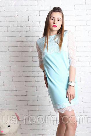 Женское платье хлопок+гипюр №234, фото 2