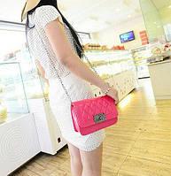 Женская сумка клатч через плечо розовая, фото 1