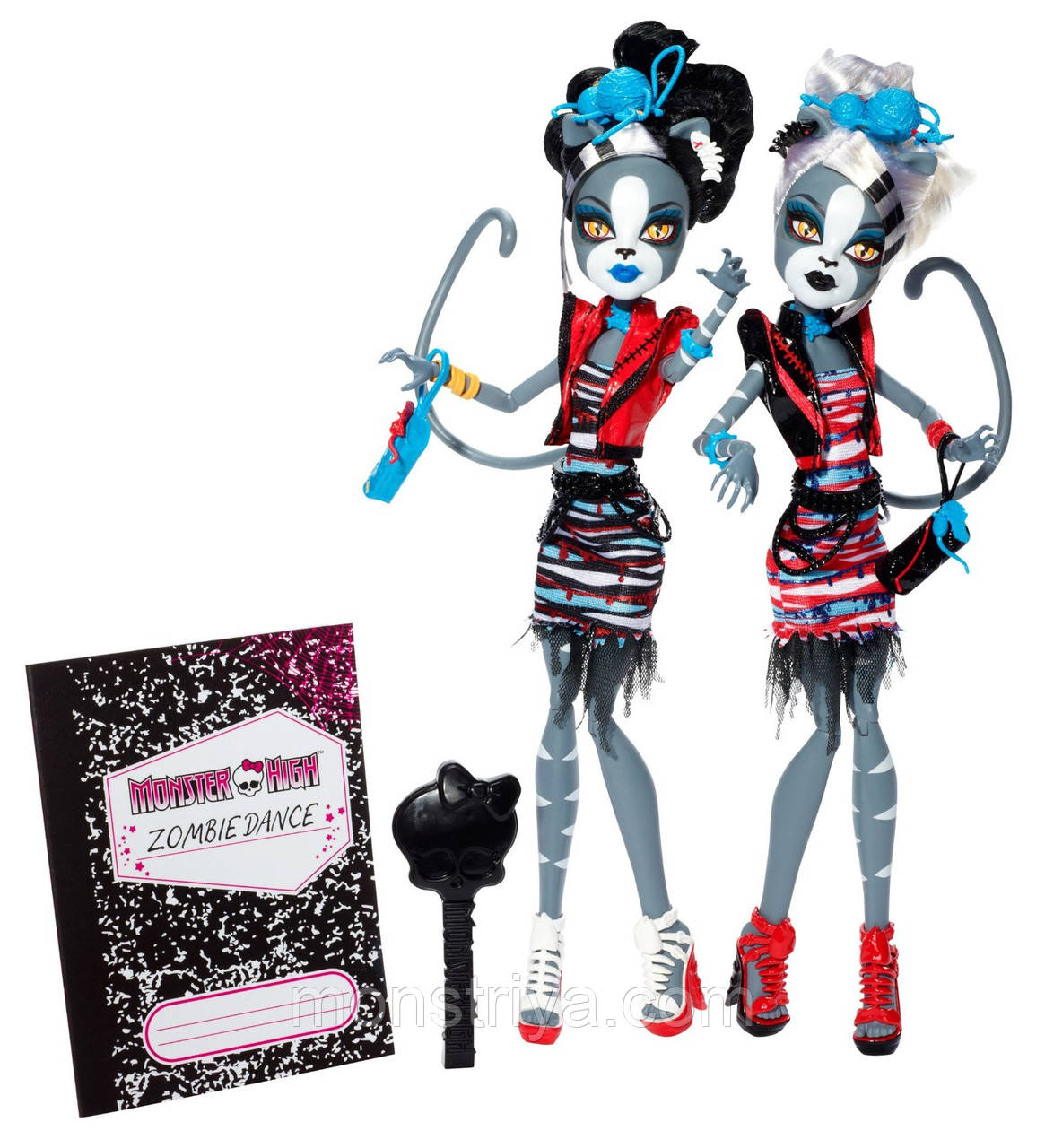 Набор кукол Мяулодия и Мурсифона,Monster High серия Зомби шейк