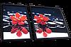Диптих для вышивки бисером Червоні орхідеї