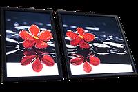 Диптих для вышивки бисером Червоні орхідеї, фото 1