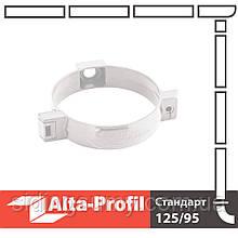 Хомут труби Альта-Профіль Стандарт 74 мм білий
