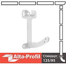 Поворотний елемент кронштейна Альта-Профіль Стандарт 115 мм білий