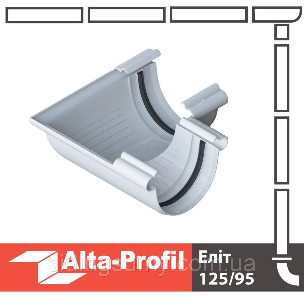 Кут жолоба Альта-Профіль Еліт 90 градусів 125 мм білий