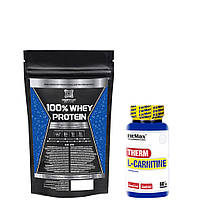 100% Whey protein PROFIPROT 1000г + Therm L-carnitine Fitmax 60 caps