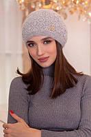 Зимняя женская Шапка «Верона» Светло-серый