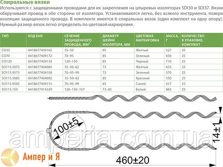 Спиральная вязка SO115.9585 (70-95-99 мм²) ENSTO, фото 2