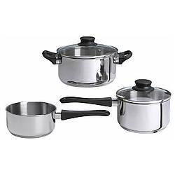 ✅ IKEA ANNONS (902.074.02) Набор посуды, 3 шт., Стекло, нержавеющая сталь