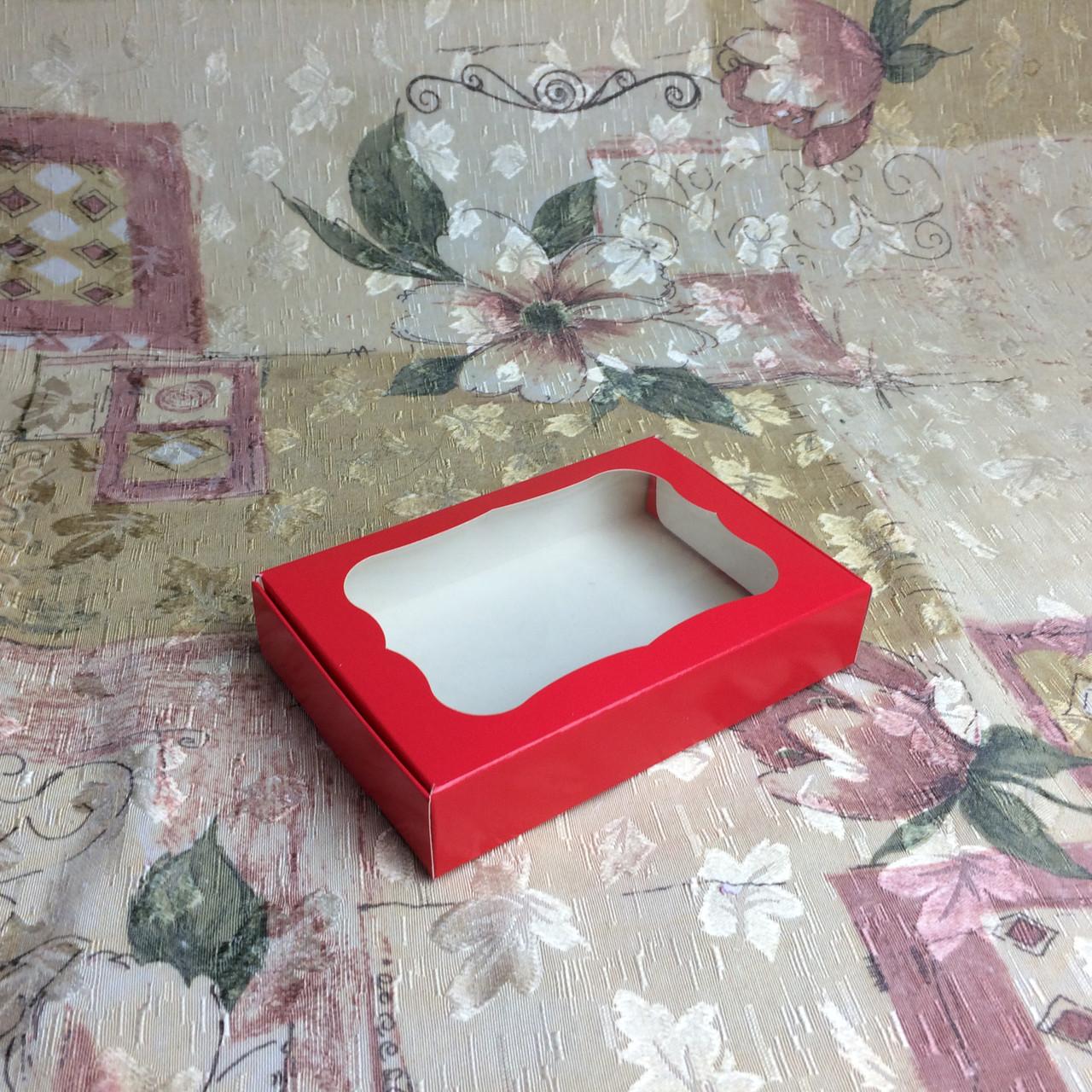Коробка для пряников / 100х150х30 мм / печать-Красн / окно-обычн