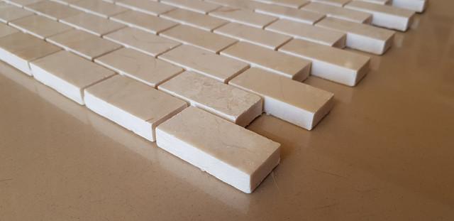 Мозаика из кремового мрамора Крема Нова - белый цвет Лофт