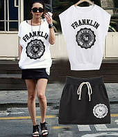 Легкий костюм Franklin Marshall черно-белый цвет