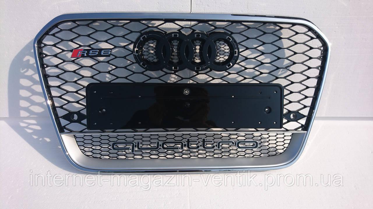 Решетка радиатора Audi A6 C7 RS6 2012+