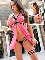 Сексуальный женские пеньюар розового цвета