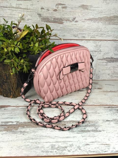 6d7e31eef8f1 Купить Сумку женскую клатч на цепочке с бантиком Розовую Уценку ...