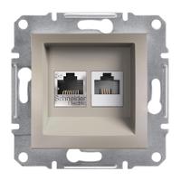 Розетка PC+TF Asfora Бронза Schneider Electric