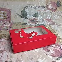 Коробка для пряников / 100х150х30 мм / печать-Красн / окно-Бабочка, фото 1