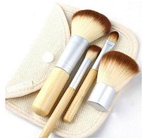 Набор из четырёх профессиональных бамбуковых кисточек для макияжа