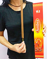 Vasu Intense Sticks Amber Аромапалочка индийская большая Амбер 60 грн