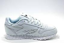Кроссовки женские в стиле Reebok Classic Leather, Gray\Turquoise, фото 2