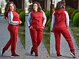 Женский спортивный костюм больших размеров 48-54 в разных цветах , фото 3