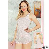 Комплект-двойка женский  узорные майка и шорты Pink Secret (Турция) PK4574 c5ef9e5a95150