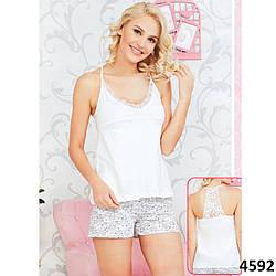 Комплект-двойка женский: кружевная майка и узорные шорты Pink Secret  PK4592