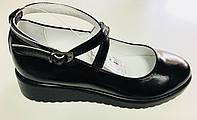 Кожаные школьные туфли для девочек Каприз размеры 31,32,33