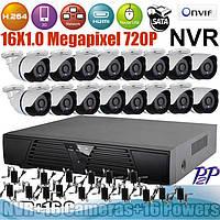 Цифрове IP відеоспостереження на 16 камер, фото 1