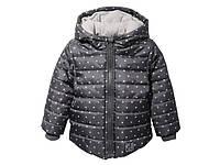 Куртка для девочки Lupilu серая в белый горошек р.98, 104