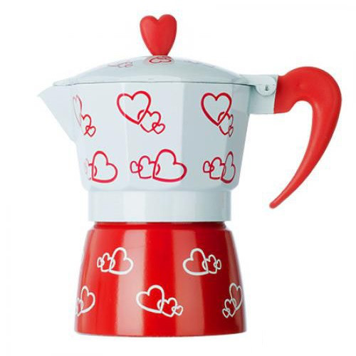 Кофеварка гейзерная 3 чашки MHZ R16593 Hearts