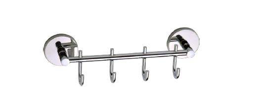 Вешалка для вещей на 4 крючка из нержавеющей стали