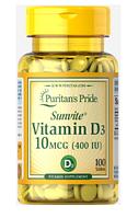 Puritan's Pride Vitamin D3 400 iu 100 tabs