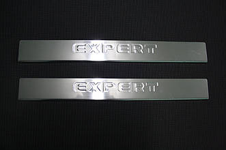 Peugeot Expert 2007- Накладки на порожки 2шт