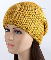 Лаконичная вязаная шапочка Венера желтого цвета