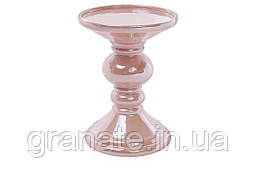 Набір свічників кераміка, колір - рожевий 15см (2шт)