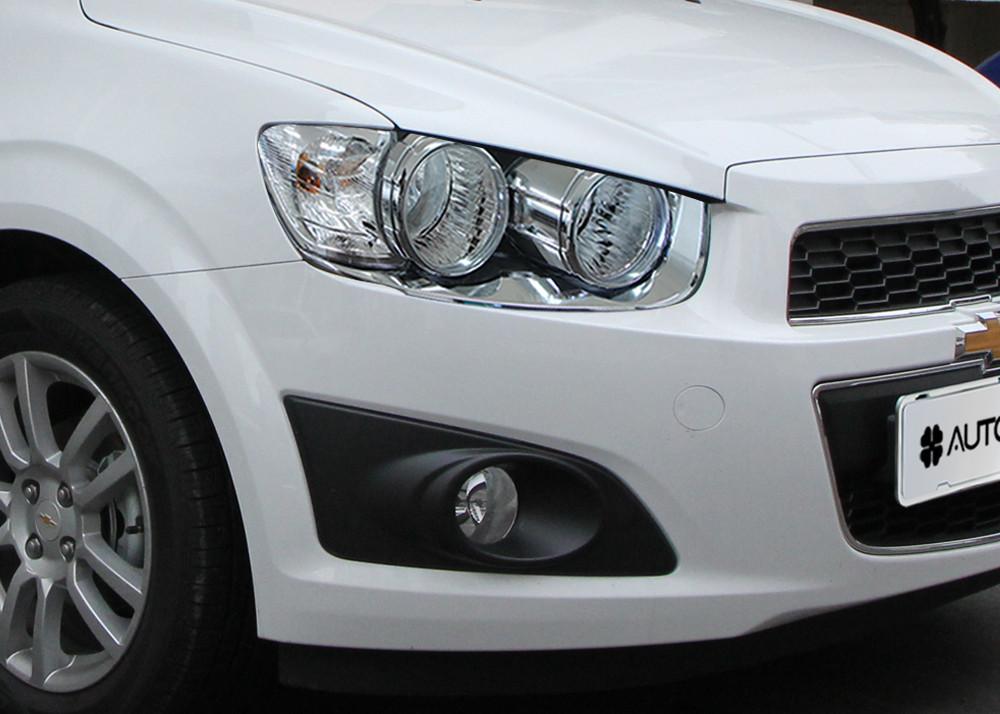 Chevrolet Aveo (2006-2011) Окантовка фар 2шт