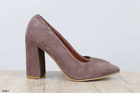Туфли женские, из натуральной замши