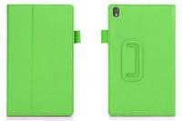 Зеленый чехол для Lenovo S8-50 из синтетической кожи