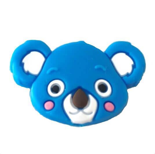 Коала бусина (голубой) силиконовая бусина