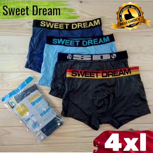 Мужские трусы боксеры  Sweet Dream cotton  A1020 размер 4XL  разные расцветки ТМБ-18864
