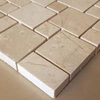 Декоративная мозаика Тадж Махал из мрамора полированная, лист 1х30,5х30,5 цена за метр.кв., фото 1